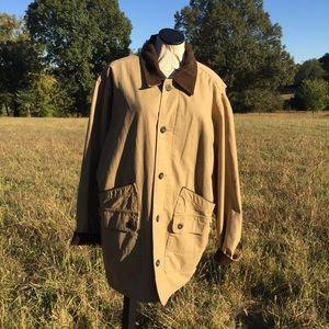 Orvis  Mens Barn Jacket Coat Khaki Tan Sz XL